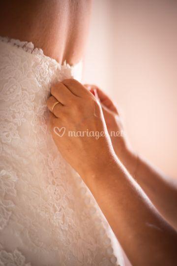 Préparatif mariée robe mariage