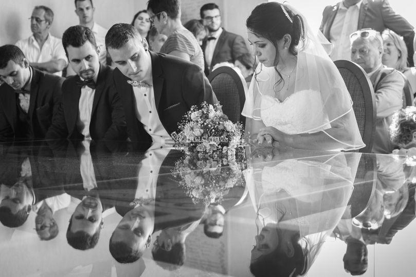 Cérémonie mairie mariés