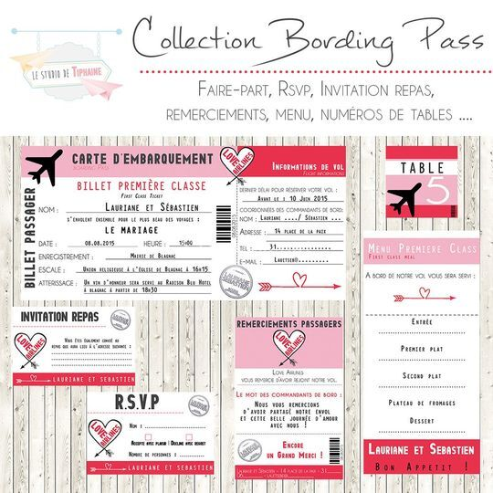 """Collection """"Boarding Pass"""""""