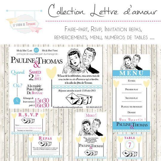 """Collection """"Lettre d'Amour"""""""