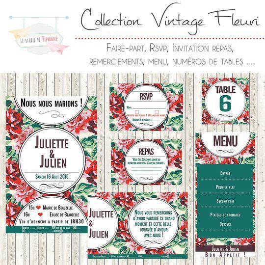 "Collection ""vintage Fleuri"""