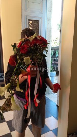Bouquet de mariée sur le thème