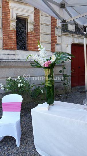 Bouquet haut pour buffet