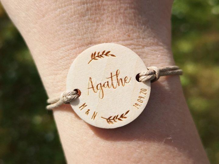 Bracelet / Marque place bois