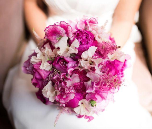 Bouquet pois de senteur rosé