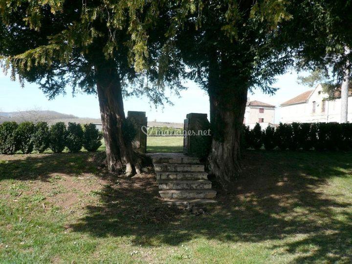 Escalier Château/orangerie