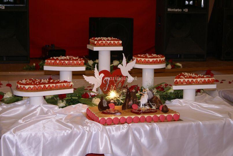 Entremet des mariés (fraisier)
