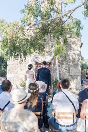 Mariage bohème en Crète