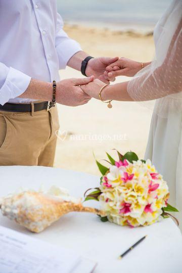 Bouquet tropical de la mariée