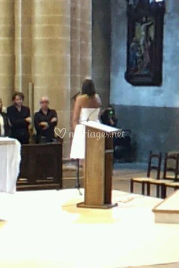 Prestation chantée à l'église