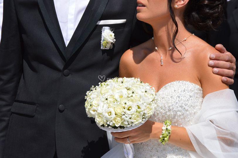 Bouquet rond et chic