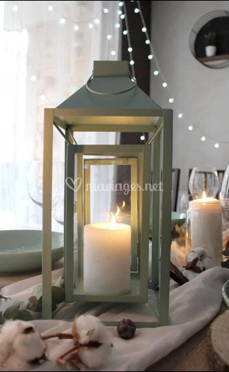 Des lanternes pour vos tables