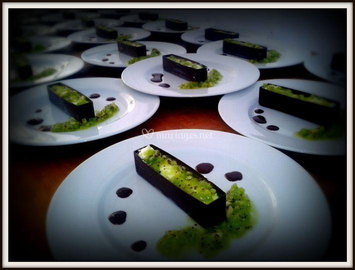 Dessert kiwi chocolat