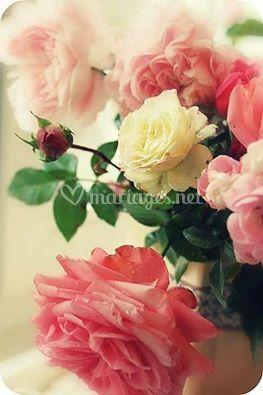 Bouquet table mariés