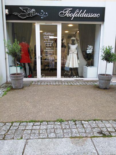 Vitrine atelier showroom