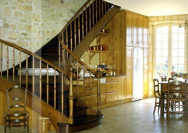 Les escaliers de la cuisine