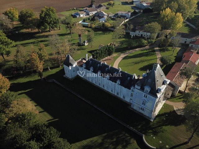 Vue aérienne du château