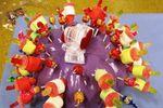 Potiron pour présenter les bonbons au buffet