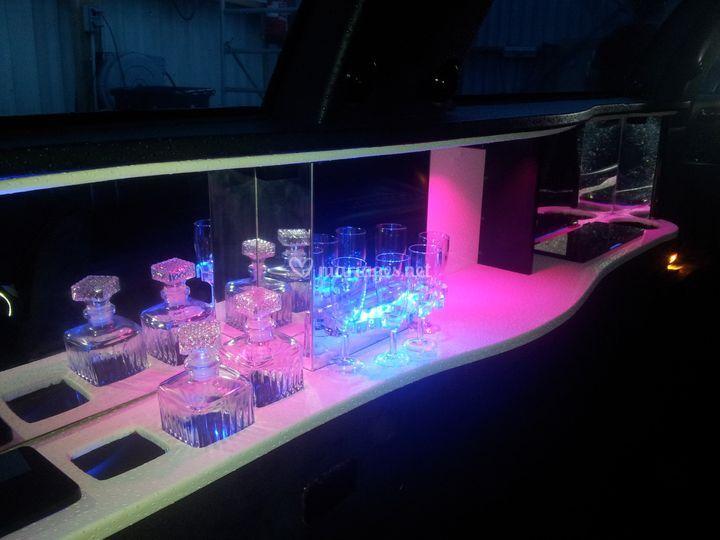 Bar avec éclairage