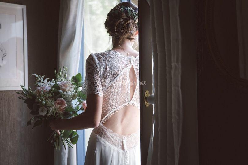 Chignon floue mariée