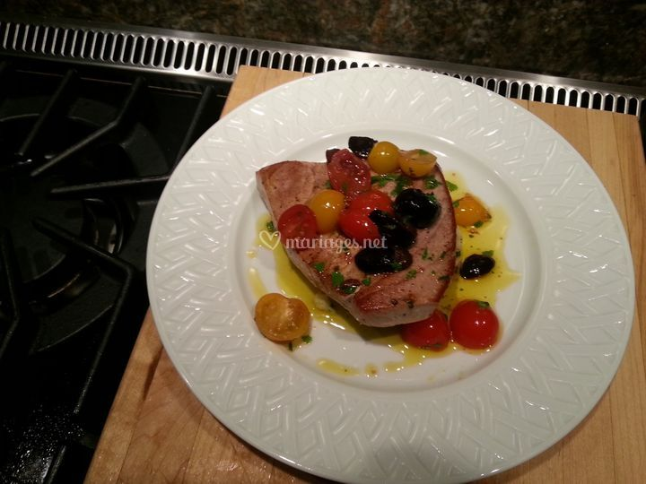 Steack de thon aux olives