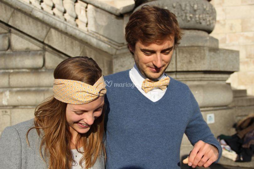 Duos headband/noeud papillon
