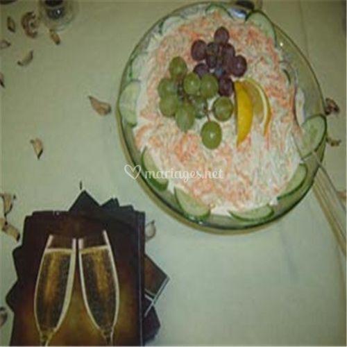 Plat traiteur décoration raisin