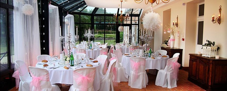 Housses polyester-noeud organza