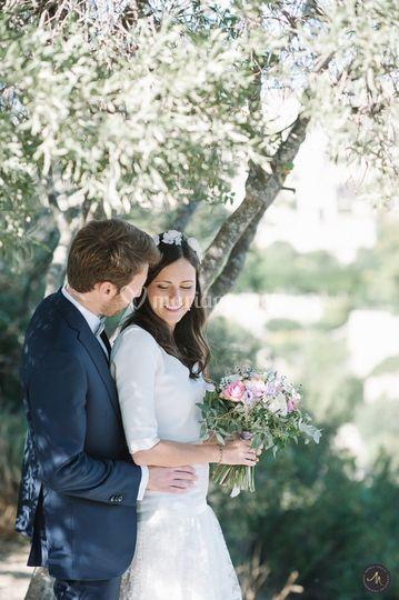 Couple sous olivier
