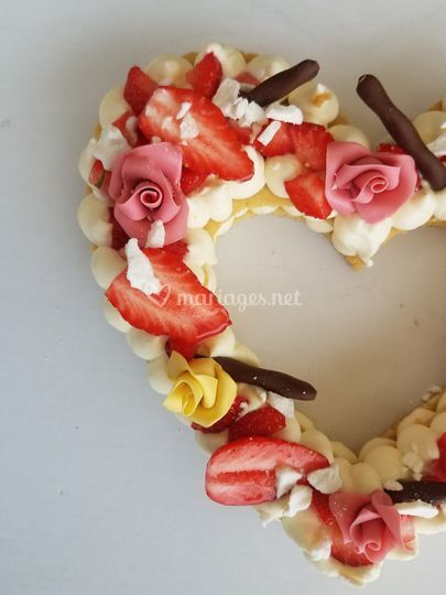 Heart cake 8 personnes
