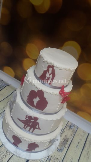 Wedding cake 90 personnes