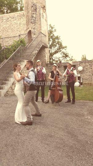 Mariage jazz champetre