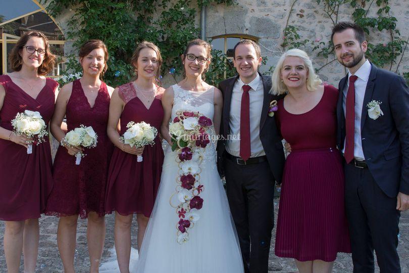 Les mariés et les témoins