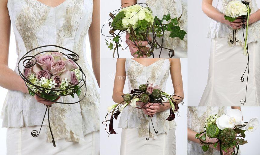 Le bouquet fleurs et métal