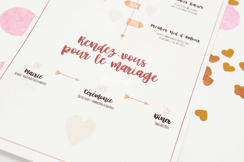 Faire-part : histoire d'amour