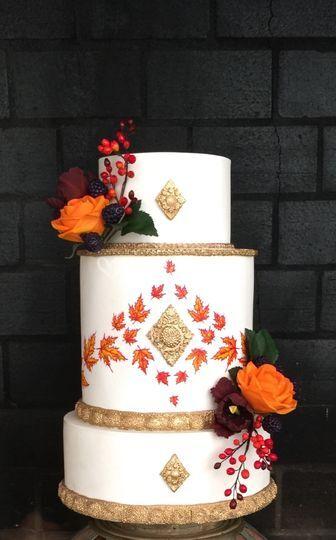 Wedding cake automnal