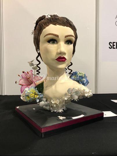 Gâteau 3D - buste sculpté