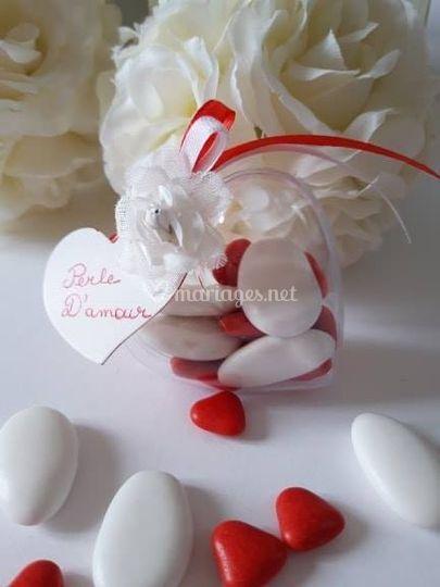Coeur et dragée chocolat