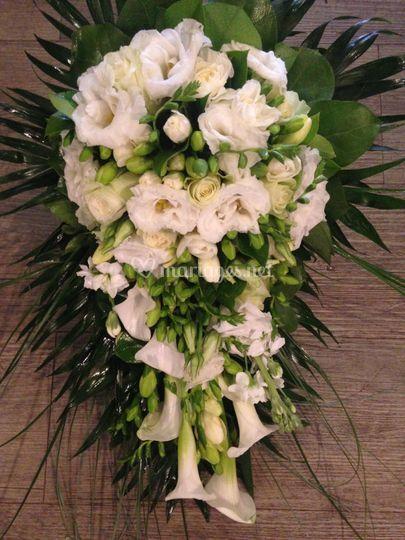 Bouquet de mariée chutte