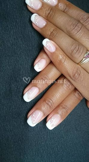 Pose ongles gel deco mains