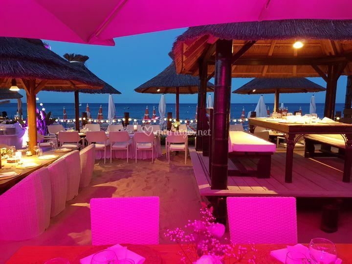 Mariage plage St Tropez
