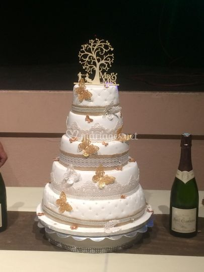 Wedding cake thème papillons