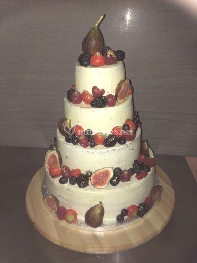 Naked cake fruits de saisons