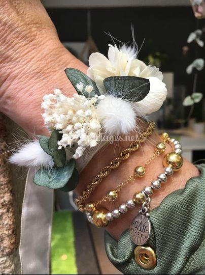 Bracelet fleurs séchées /stab