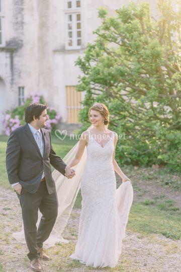 American wedding in Dordogne