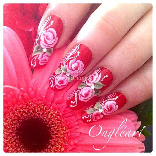 Déco fleurs one stroke