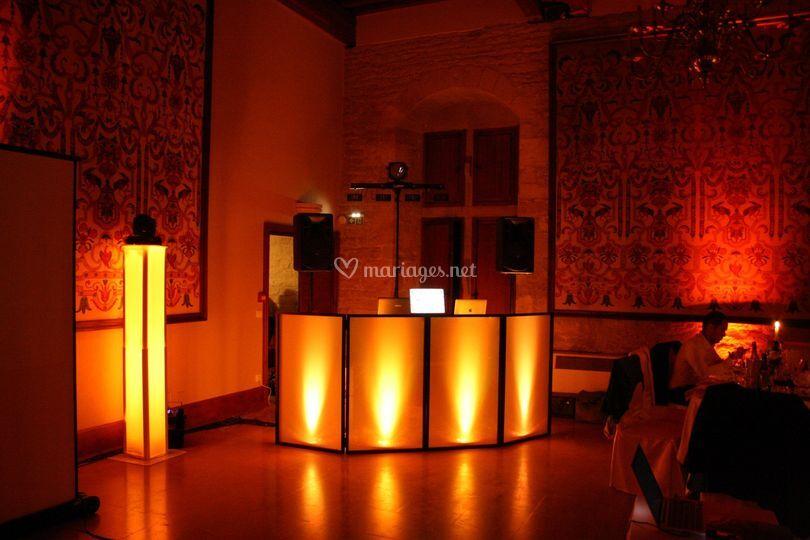 Installation ambrée