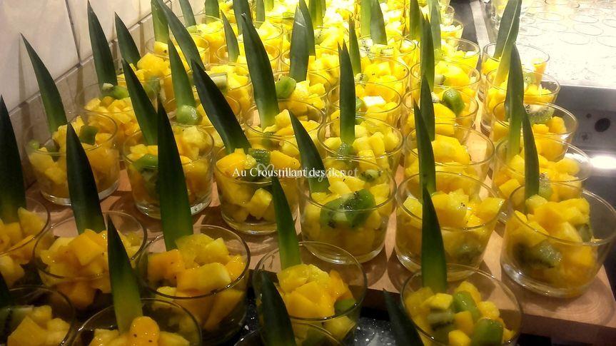 Coupes fruits frais exotiques