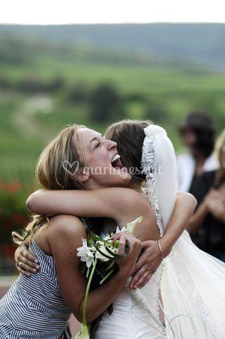 Photo de mariage - la mariée et sa soeur