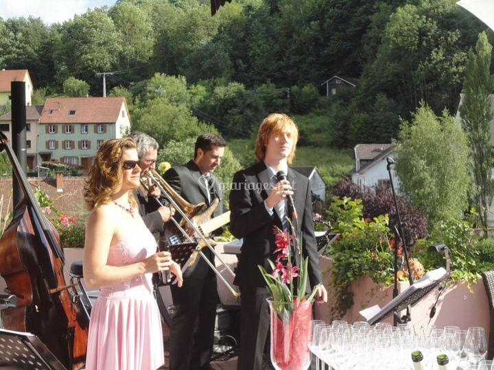 Musiciens pour cocktail